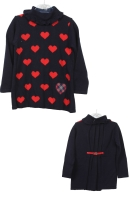 Girls Dr Kid Navy and Red Top DK413