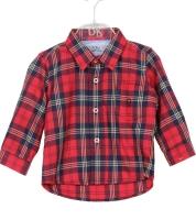 Boys Dr Kid Red Tartan Shirt DK512