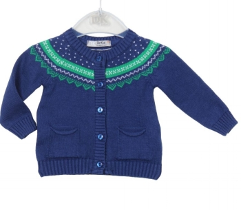 Girls Dr Kid Green and Blue Cardigan DK300