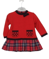 Girls Dr Kid Red Tartan Dress DK312