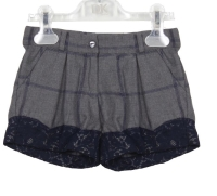 Girls Dr Kid Grey and Navy Shorts DK454