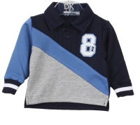 Boys Dr Kid Grey, Blue and Navy Sweater DK522