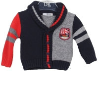 Boys Dr Kid Navy, Grey and Red Cardigan DK510