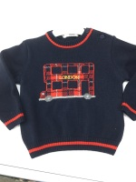 Boys Dr Kid Navy and Red Sweater DK509