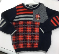 Boys Dr Kid Navy and Red Sweater DK609