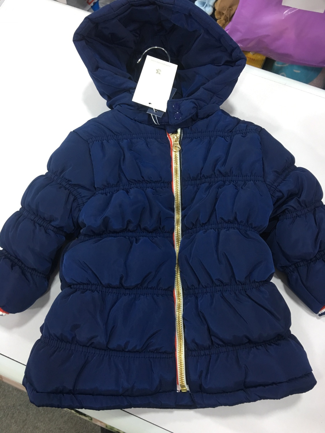 8e2848340d72 Boys Tutto Piccolo Coat 3648 - Navy
