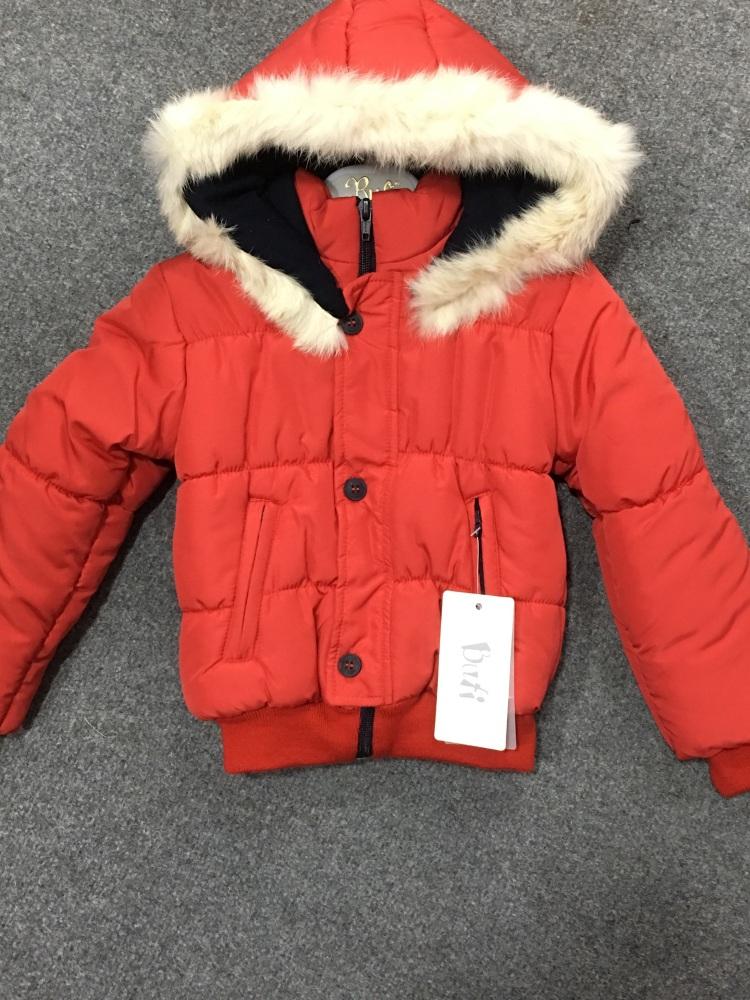 fd9ee84d8 Boys Bufi Coat with Natural Fur