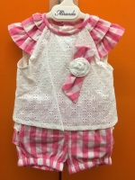 Girls Miranda Pink and White Set 182