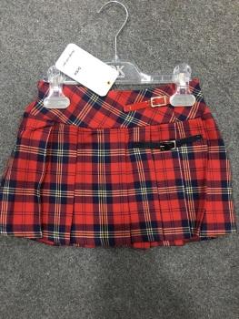 Girls Dr Kid Red Pleated Skirt DK417