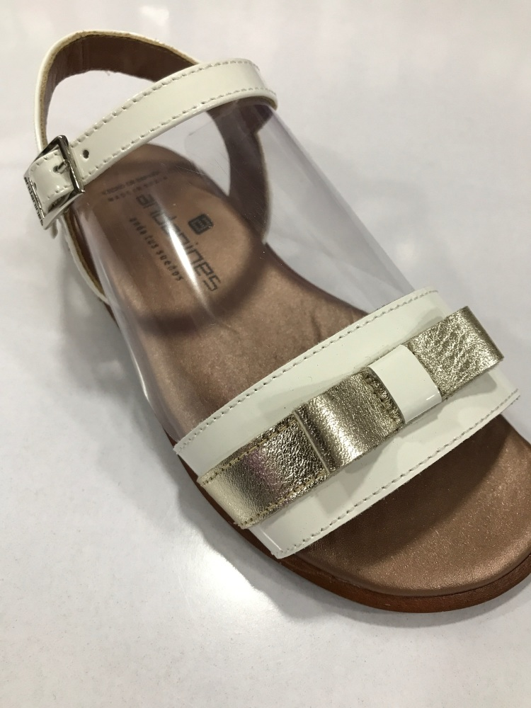 Girls Andanines Sandals White and Gold