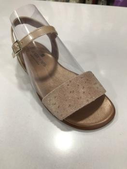 Girls Andanines Sandals Luxury Metalic Nude