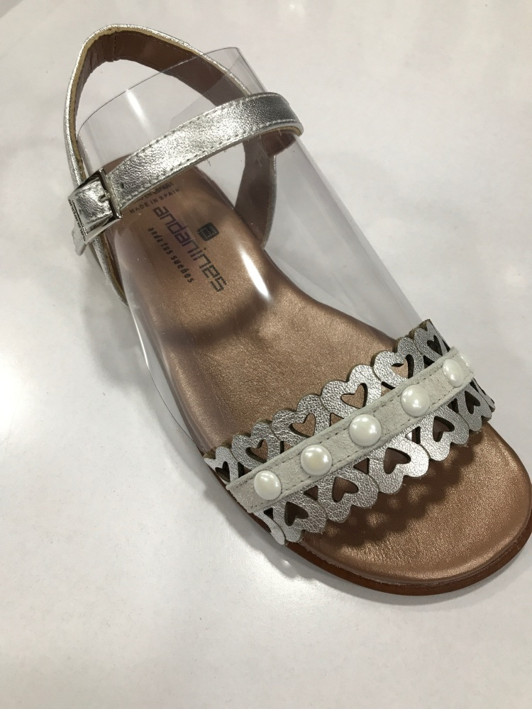 Girls Andanines Sandals Silver