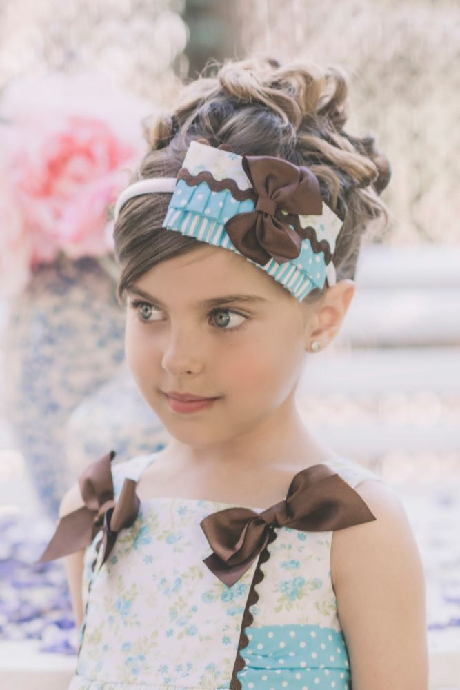 PRE ORDER Girls Dolce Petit Turquoise Headband 2212