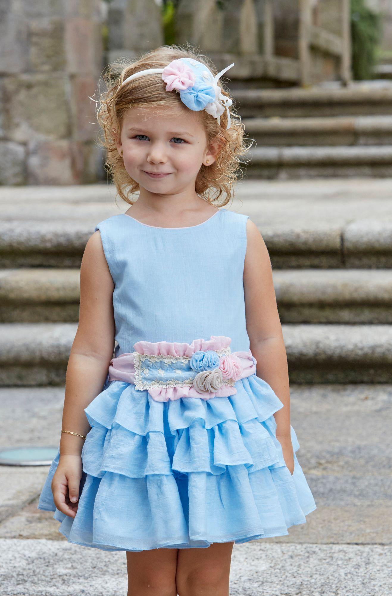 Girls Miranda Blue And Pink Dress 265