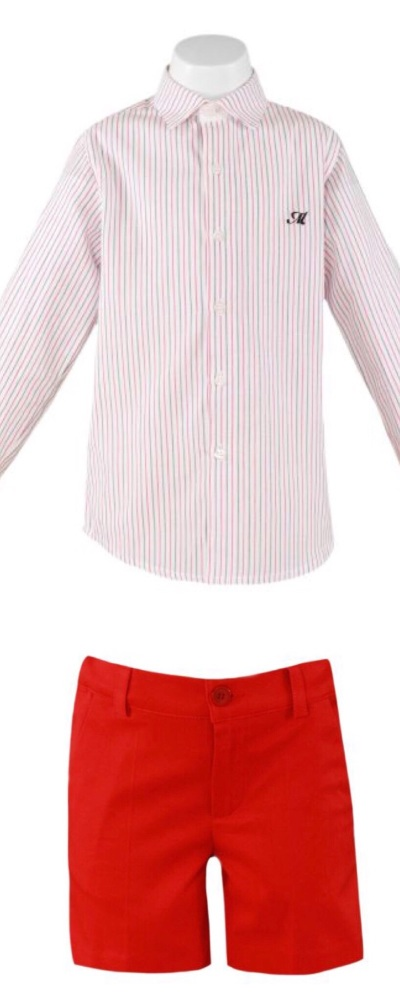 Boys Miranda Red and White Set 228