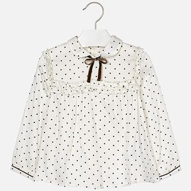 Mayoral Mini Girls Patterned Blouse 4122