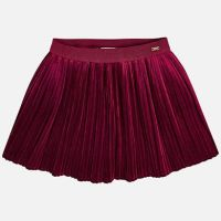 Mayoral Mini Girls Velvet Skirt 4920 - Raspberry