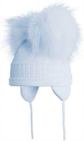 Satila Double Pom Pom Hat Tindra Blue