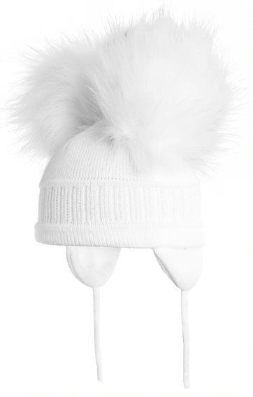 Satila Double Pom Pom Hat Tindra White