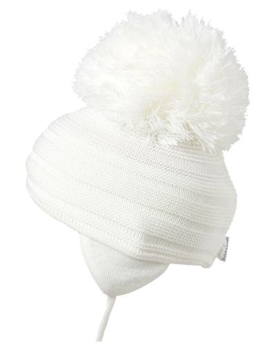 Satila Pom Pom Hat Purl White