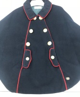 Girls Dolce Petit Cape 2257 - Navy and Red
