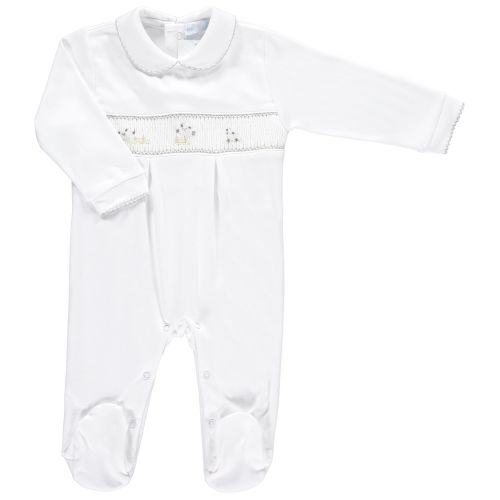Mini la Mode Smocked Babygrow - Counting Sheep