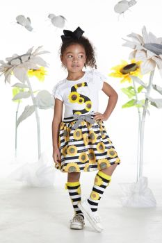 Girls A*Dee Sunflower Collection Donna Dress S192703 - 2 years remaining