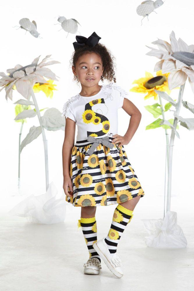 PRE ORDER SS19 Girls A*Dee Sunflower Collection Donna Dress S192703
