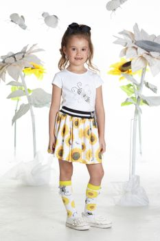 Girls A*Dee Sunflower Collection Tilly Top and Shaz Skirt Set S192404/2604 - 3 years remaining