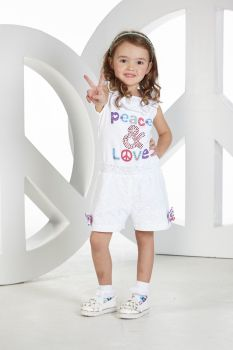 Girls A*Dee Peace and Love Collection Penelope Playsuit S194612 - 6 years remaining