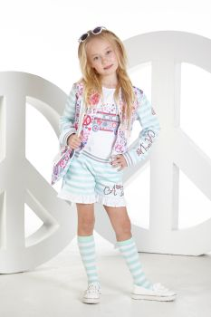 Girls A*Dee Peace and Love Collection Tabitha Top and Skippy Shorts S194611/4405 - 5 years remaining