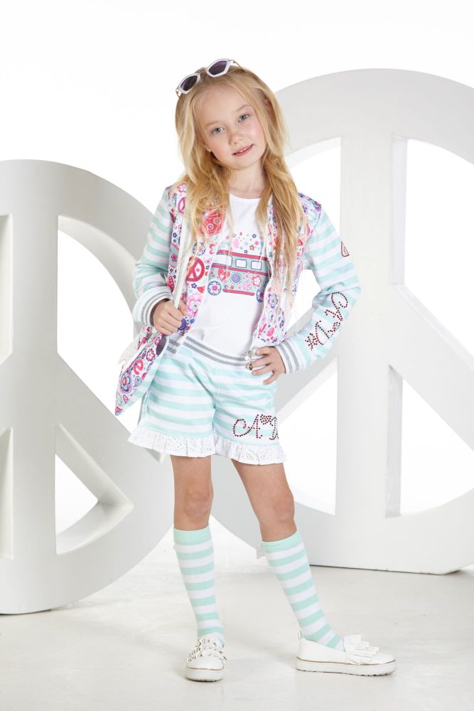 PRE ORDER SS19 Girls A*Dee Peace and Love Collection Joanie Jacket S
