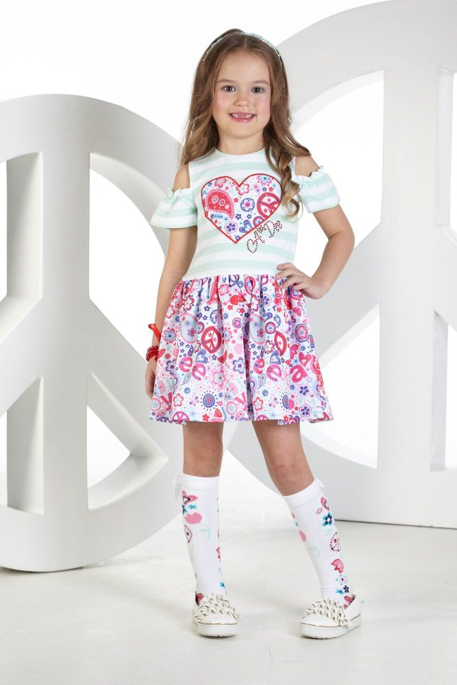 PRE ORDER SS19 Girls A*Dee Peace and Love Collection Darla Dress S19
