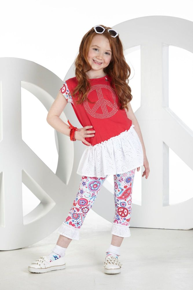 PRE ORDER SS19 Girls A*Dee Peace and Love Collection Nadia Top and L