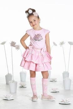 Girls A*Dee Waterlily Love Collection Tori Top and Sabrina Skirt S193406/3615 - 4 years remaining