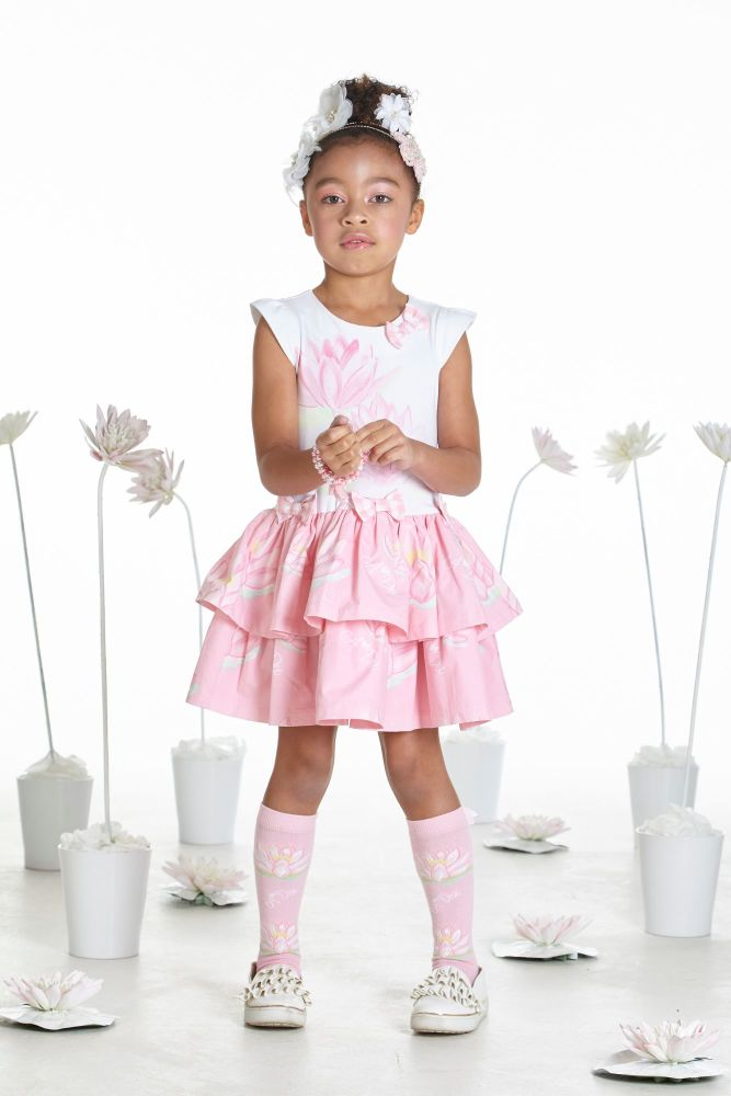 PRE ORDER SS19 Girls A*Dee Waterlily Love Collection Dot Dress S1937