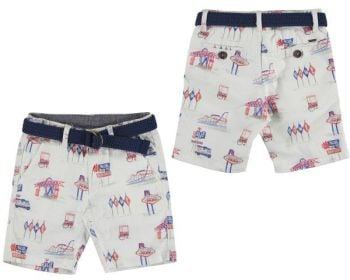Boys Mayoral Mini Shorts and Belt 3235 - Available in 8 years