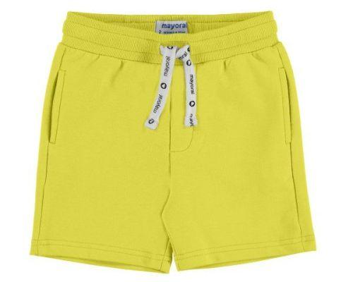PRE ORDER SS19 Boys Mayoral Mini Fleece Shorts 611 - Banana 16