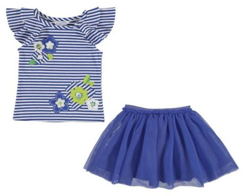 PRE ORDER SS19 Girls Mayoral Mini Top and Skirt Set 3960