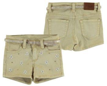 Girls Mayoral Mini Shorts 3206 - Ocher