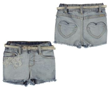 Girls Mayoral Baby Jean Shorts 1226 - Available in 12m, 18m and 24m