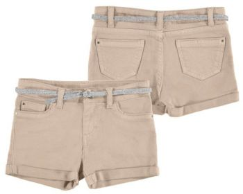 Girls Mayoral Junior Shorts and Belt 275 - Ocher - Available in 10 years