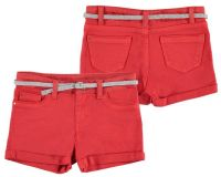 Girls Mayoral Junior Shorts and Belt 275 - Persimmon - Available in 14 years