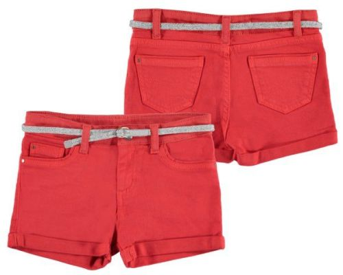 PRE ORDER SS19 Girls Mayoral Junior Shorts and Belt 275 - Persimmon