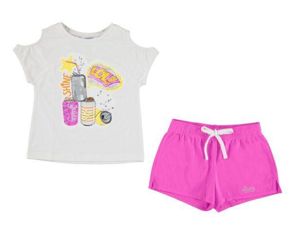 43b67b0f929b Girls Mayoral Junior Shorts Set 6215