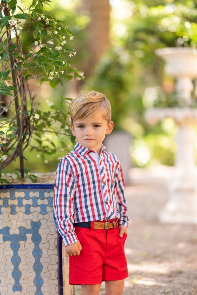 PRE ORDER SS19 Boys Dolce Petit Shirt and Shorts 2252 and Belt