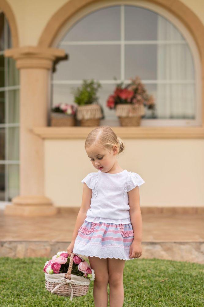 PRE ORDER SS19 Girls Dolce Petit Skirt Set 2224