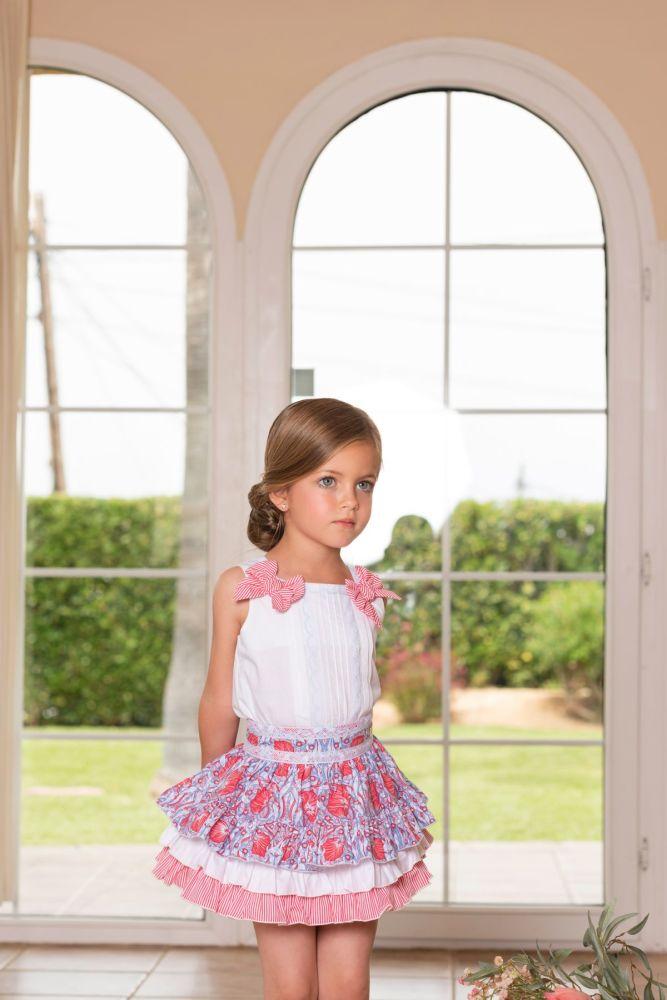 PRE ORDER SS19 Girls Dolce Petit Skirt Set 2235
