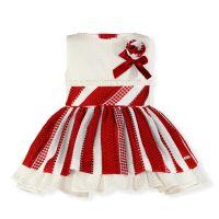 Girls Miranda Red and Cream Dress 241