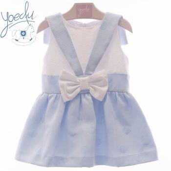 Girls Yoedu Pink and White Dress 502